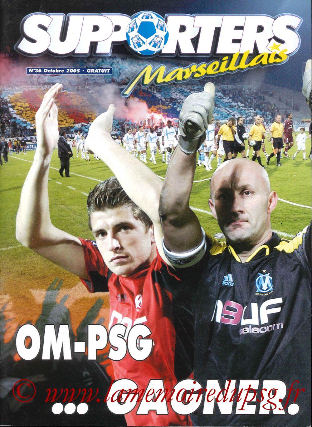 2005-10-16  Marseille-PSG (11ème L1, Supporters Marseillais N°36)
