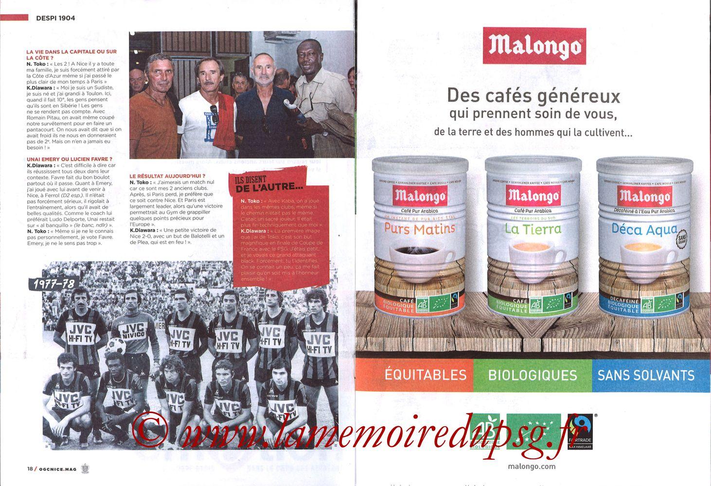 2018-03-18  Nice-PSG (30ème L1, OGC Nice Mag N°306) - Pages 18 et 19