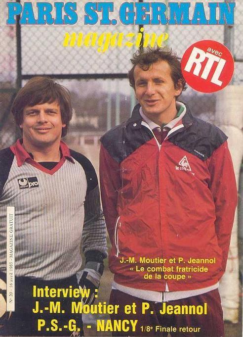 1985-04-16  PSG-Nancy (8ème Finale Retour CF, Paris SG Magazine N°20)