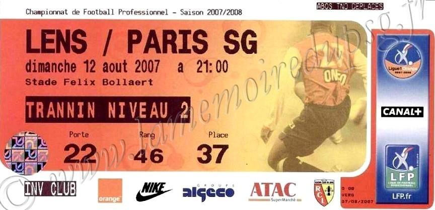 2007-08-12  Lens-PSG (2ème L1)