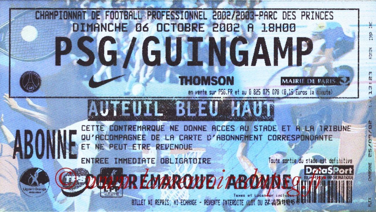 2002-10-06  PSG-Guingamp (10ème L1)