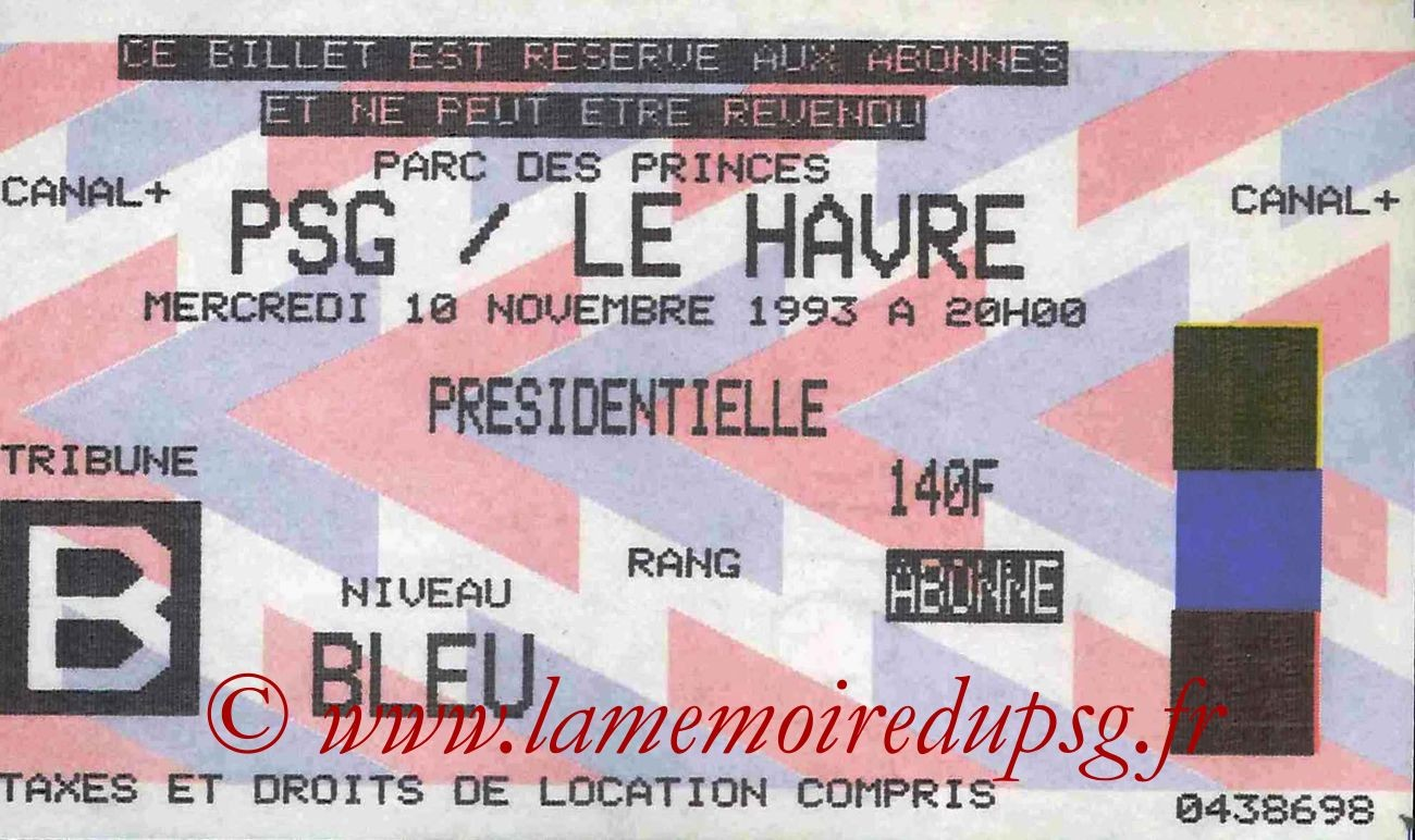 1993-11-10  PSG-Le Havre (17ème D1)