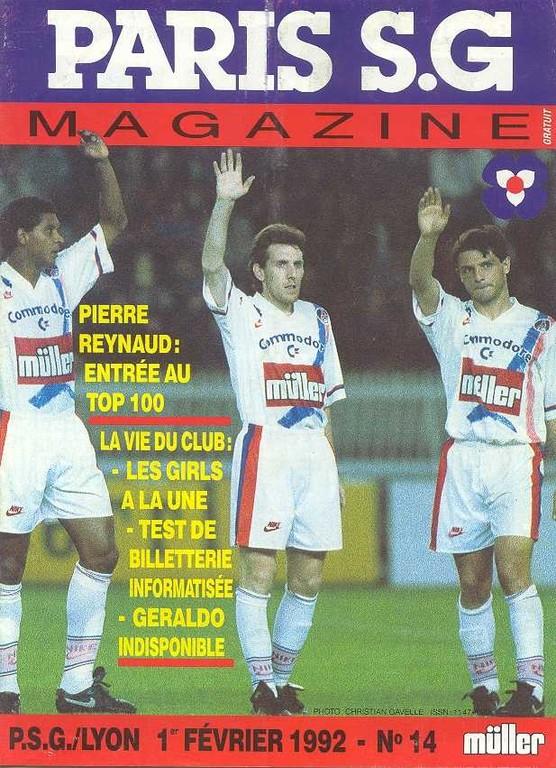 1992-02-01  PSG-Lyon (27ème D1, Paris SG Magazine N°14)