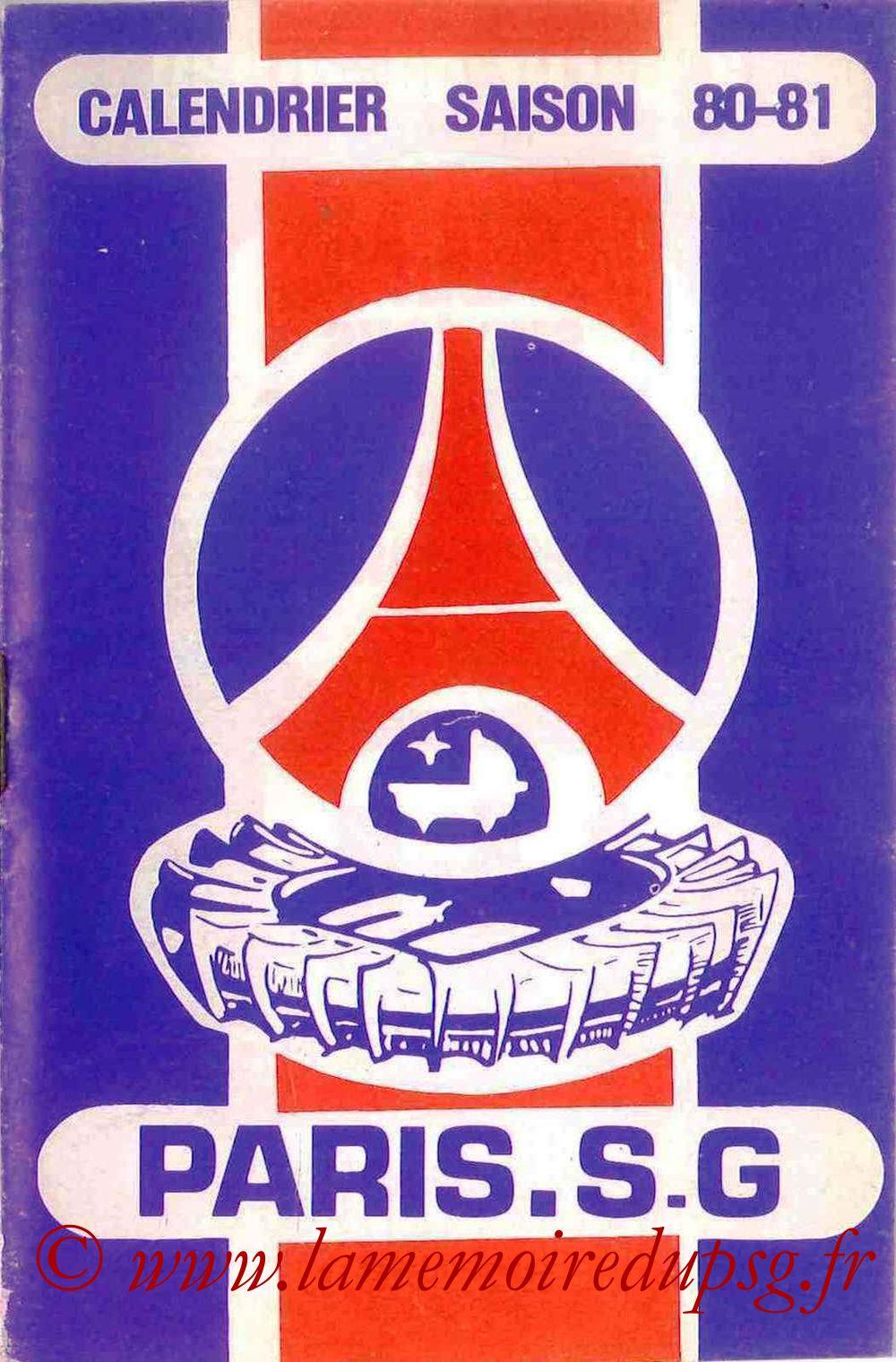 1980-81 - Guide de la Saison PSG - Couverture