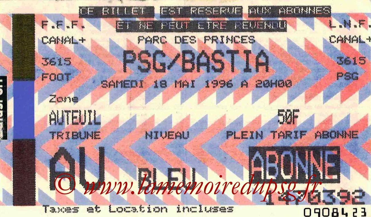 1996-05-18  PSG-Bastia (38ème D1, bis)