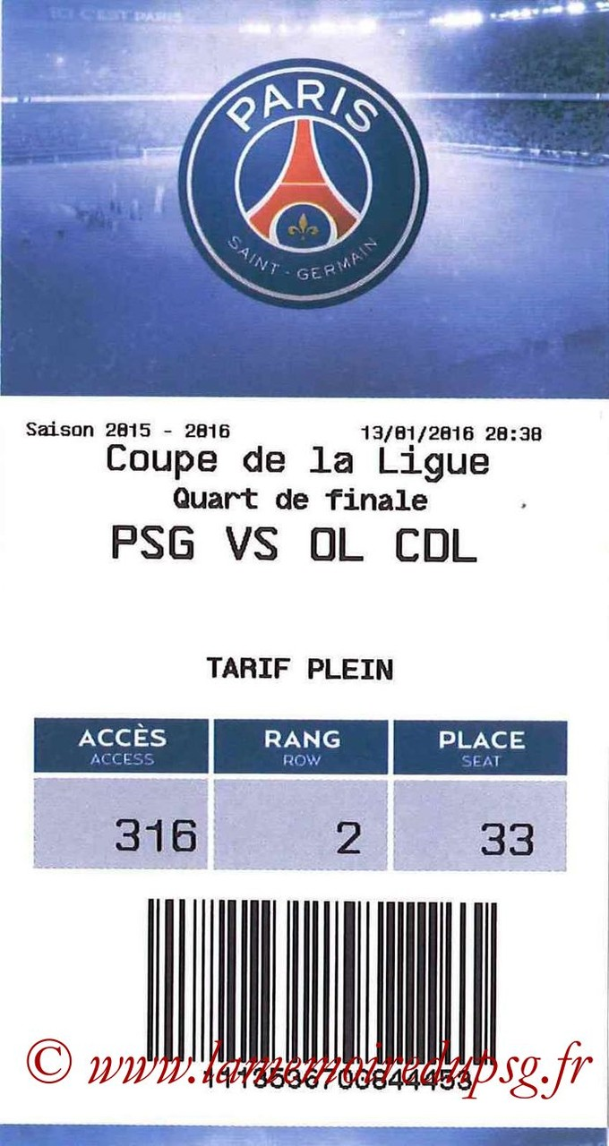 2016-01-13  PSG-Lyon (16ème CL, E-ticket)
