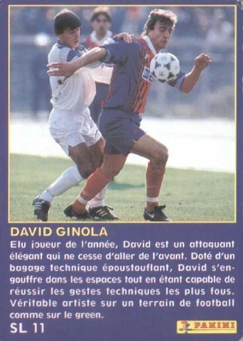 N° SL11 - David GINOLA (Verso)