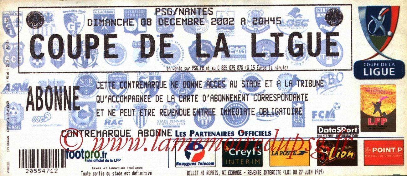 2002-12-08  PSG-Nantes (16ème Finale CL, bis)