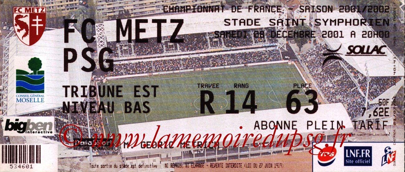 2001-12-09  Metz-PSG (17ème D1)