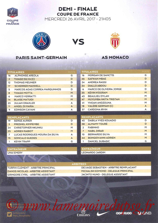 2017-04-26  PSG-Monaco (Demi-finale CF, Feuille de match)