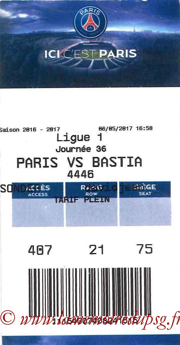 2017-05-06  PSG-Bastia (36ème L1, E-ticket 2)