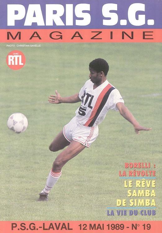 1989-05-12  PSG-Laval (36ème D1, Paris SG Magazine N°19)