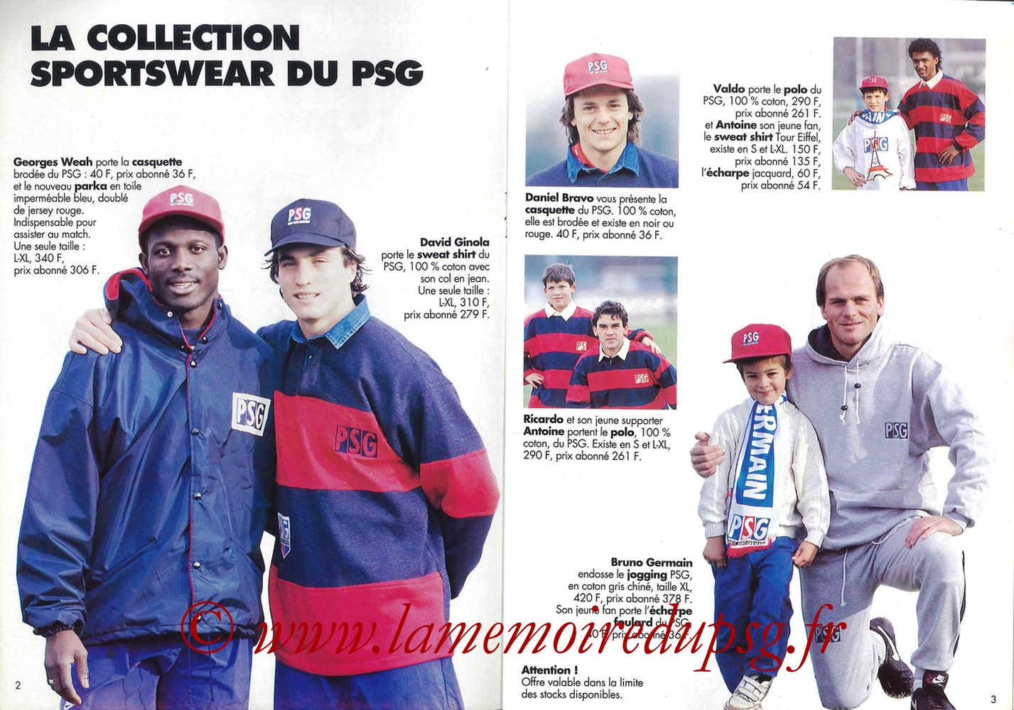 Catalogue PSG - 1992-93 - Pages 02 et 03