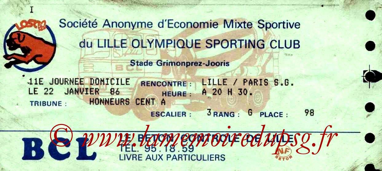 1986-01-22  Lille-PSG  (20ème D1, Match en retard)