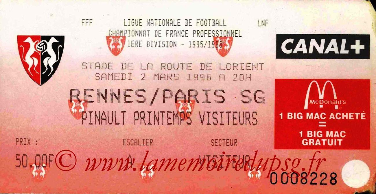 1996-03-02  Rennes-PSG (30ème D1)