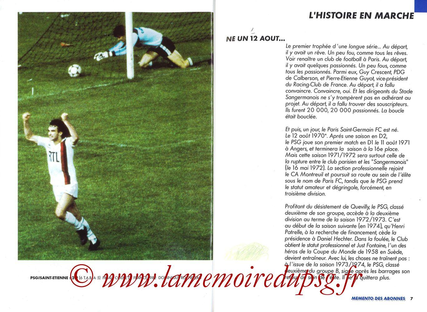 1999-00 - Guide de la Saison PSG - Pages 06 et 07