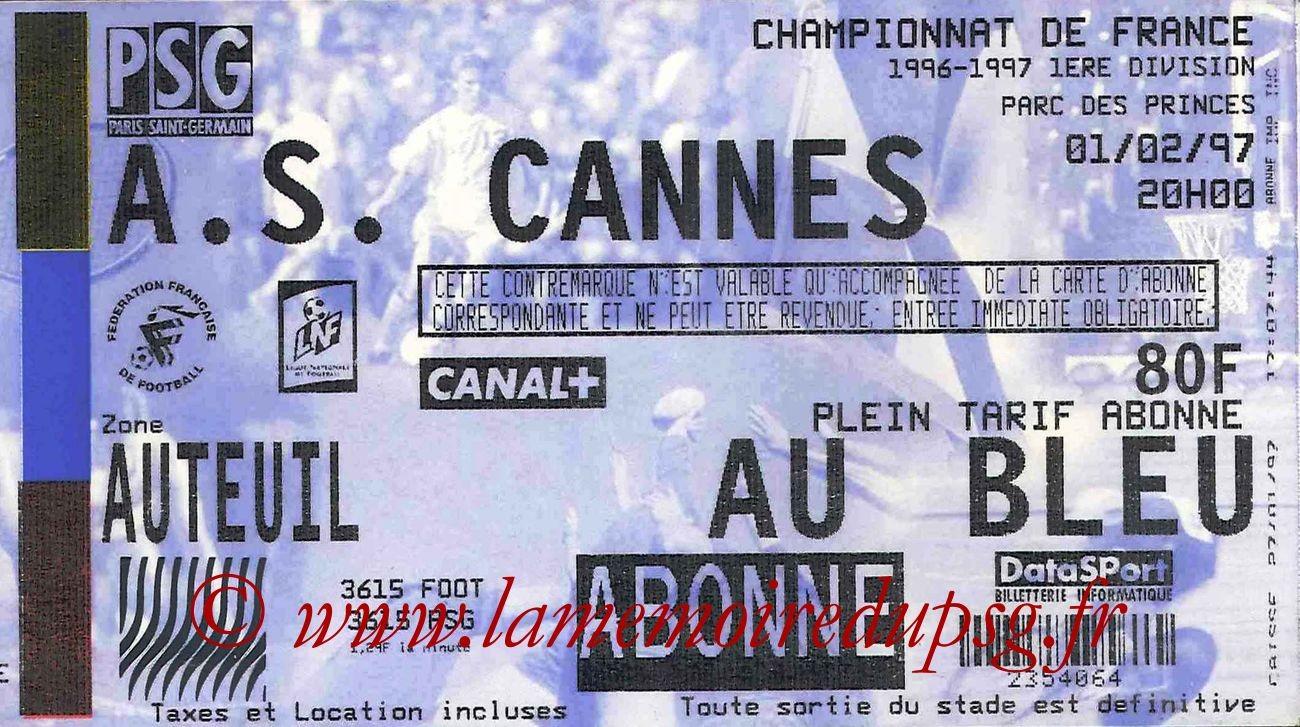 1997-02-01  PSG-Cannes (25ème D1)