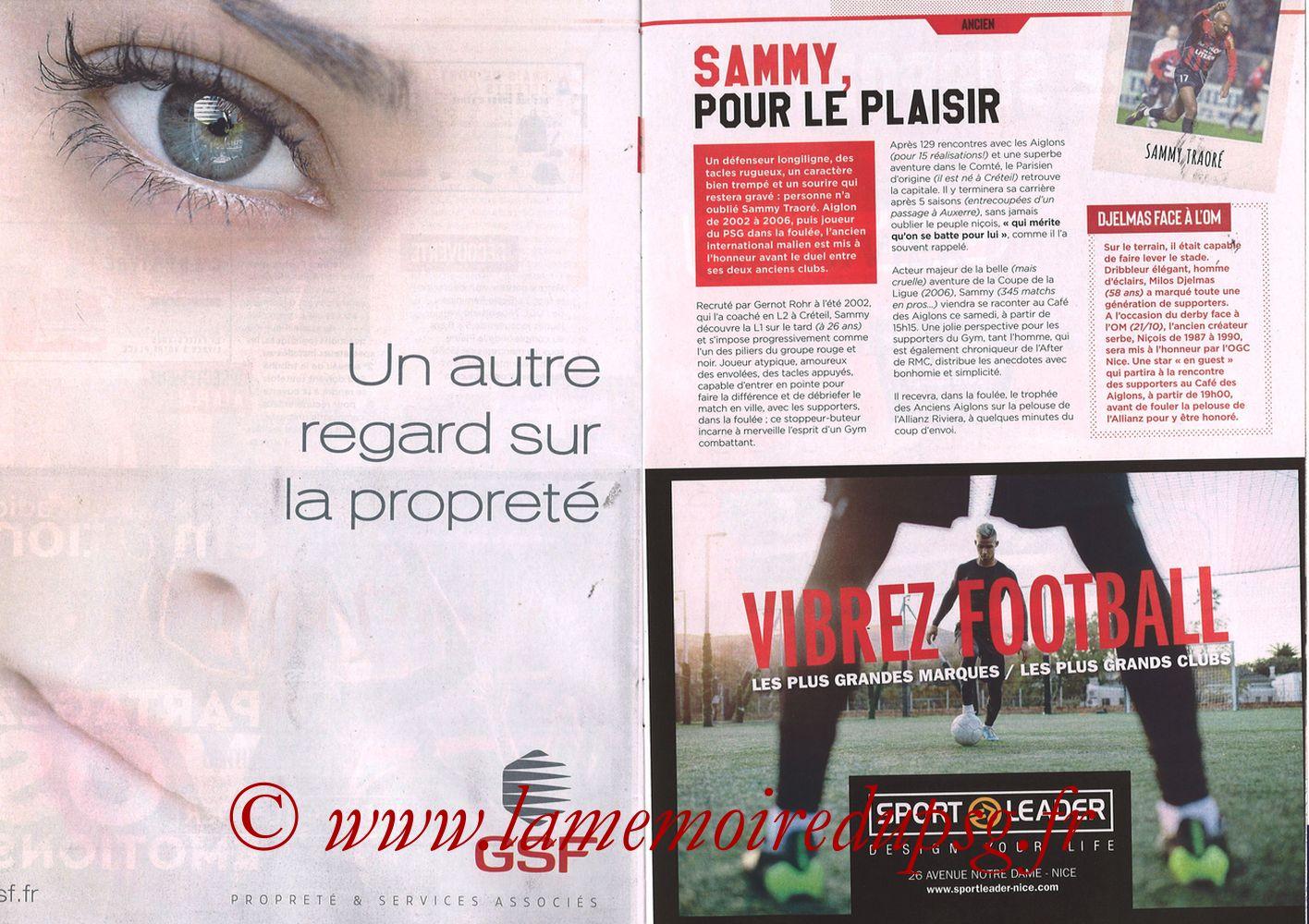 2018-09-29  Nice-PSG (8ème L1, Ogcnice.Mag N°313) - Pages 22 et 23
