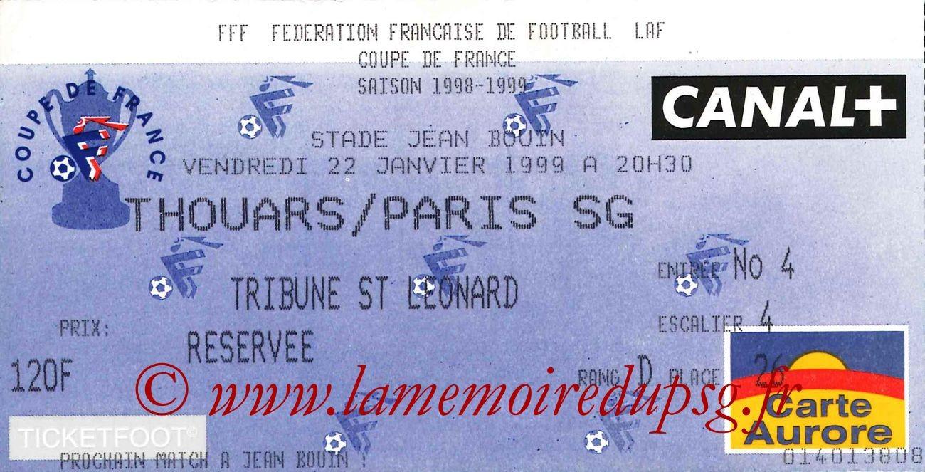 1999-01-22  Thouars-PSG (32ème Finale CF à Angers, match arrété)