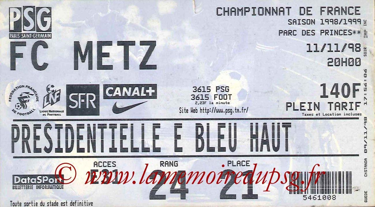 1998-11-11  PSG-Metz (13ème D1)