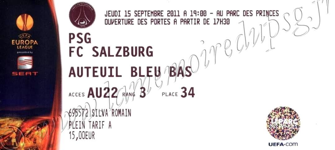 2011-09-15  PSG-FC Salzburg (1ère journée Poule C3)