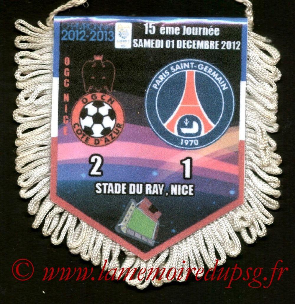 2012-12-01  Nice-PSG (15ème L1)