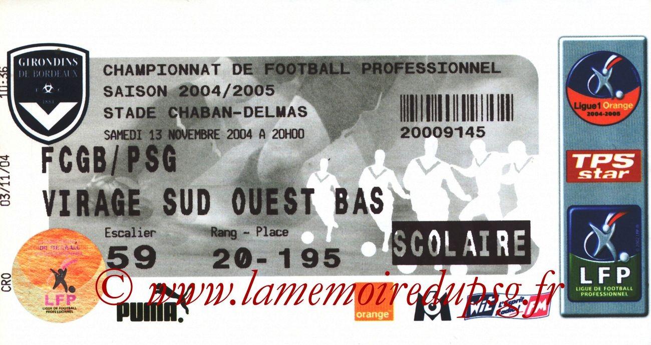 2004-11-13  Bordeaux-PSG (14ème L1)