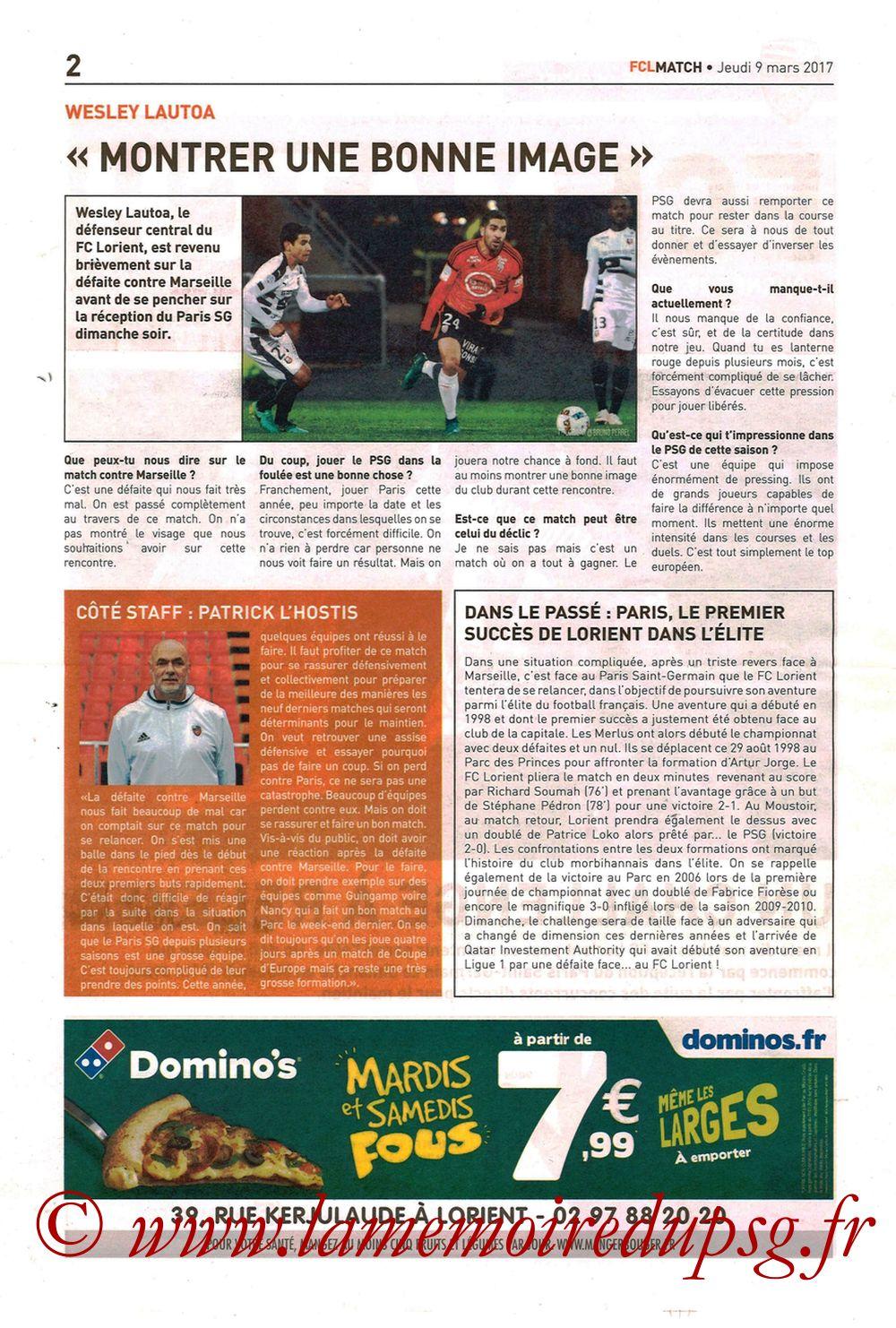 2017-03-12  Lorient-PSG (29ème L1, FCL Match) - Page 02