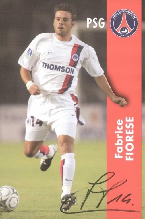 FIORESE Fabrice blanc autographe  02-03