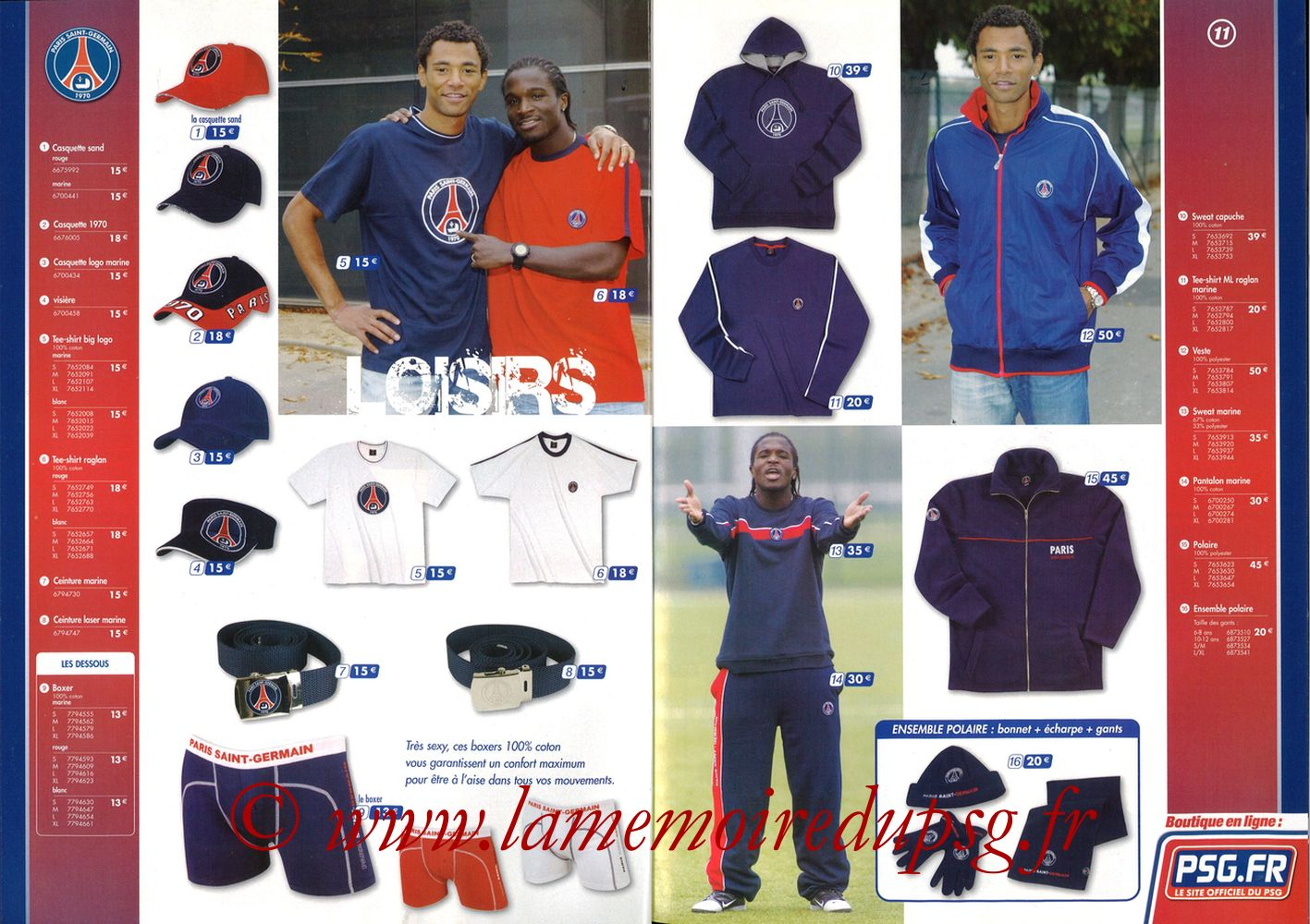 Catalogue PSG - 2005-06 - Pages 10 et 11
