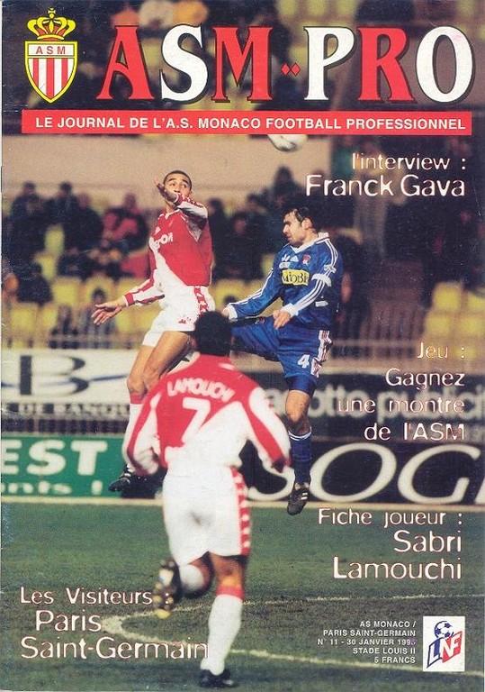 1999-01-29  Monaco-PSG (22ème D1, ASM Pro N°11)