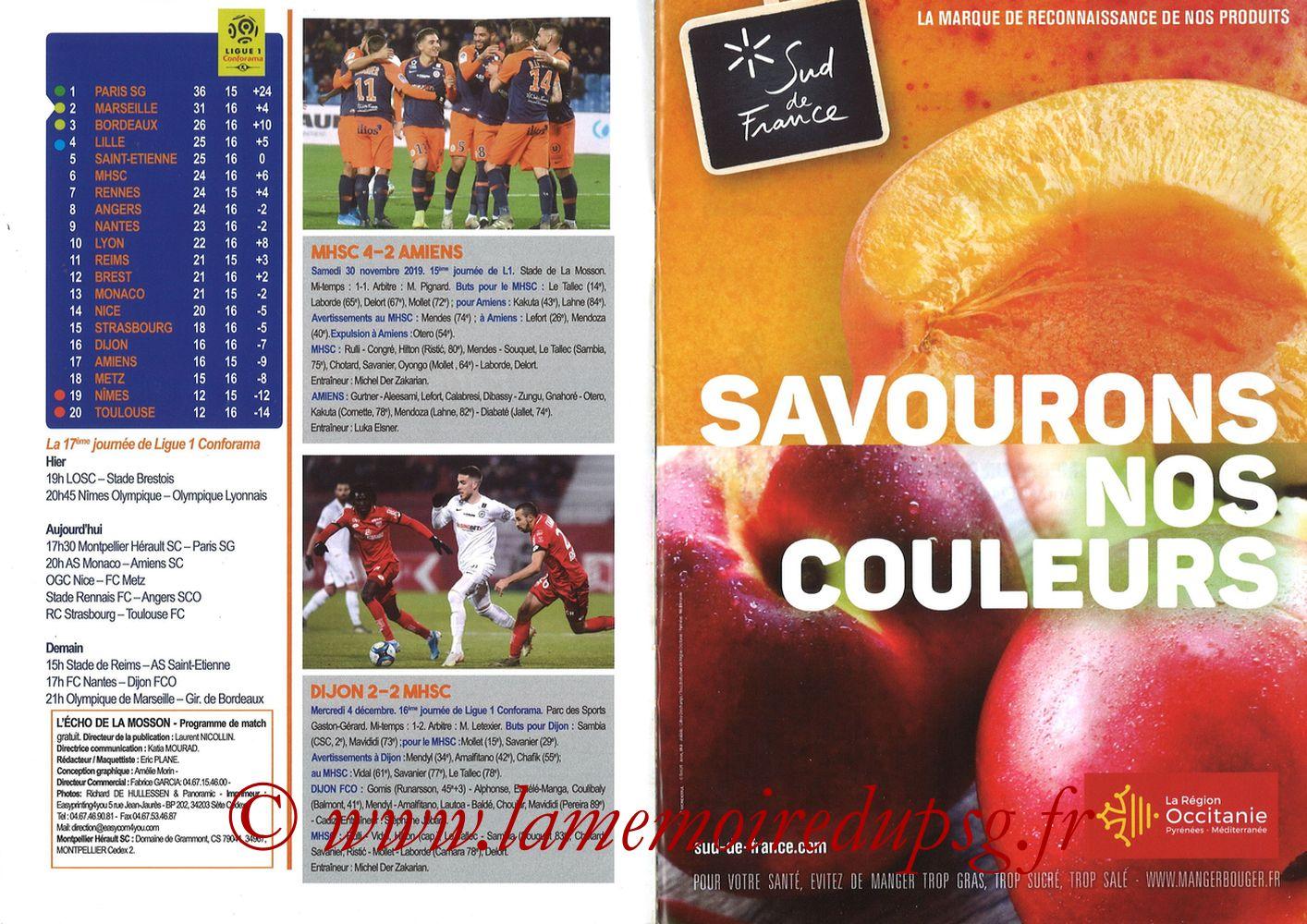 2019-12-07  Montpellier-PSG (17ème L1, L'Echo de la Mosson N°9) - Pages 08 et 09