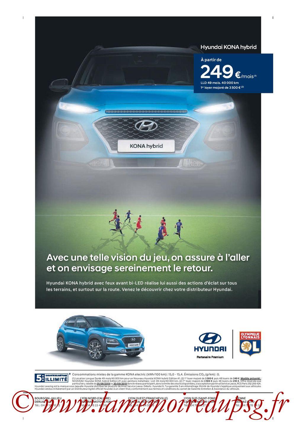 2019-09-22  Lyon-PSG (6ème L1, Tribune OL N°284) - Page 12