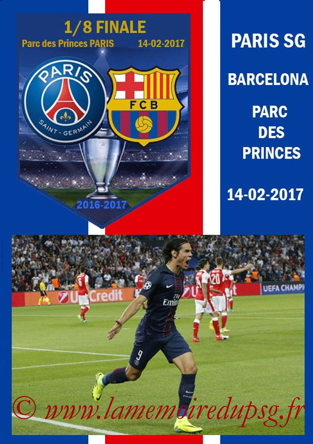 2017-02-14  PSG-Barcelone (8ème Aller C1, Programme pirate)