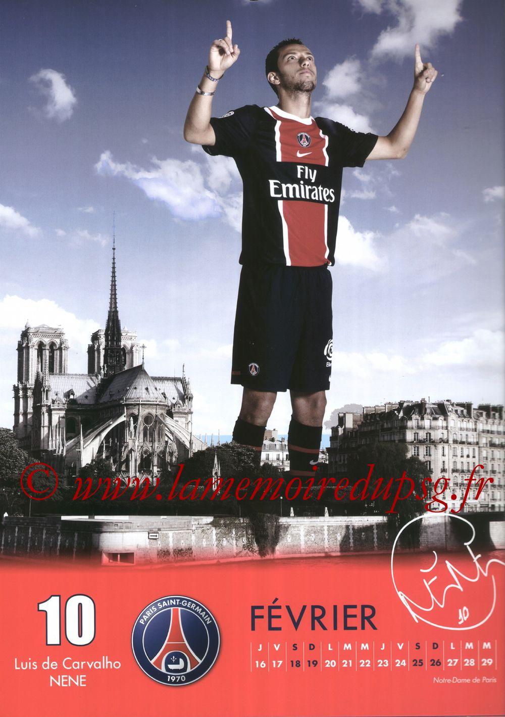 Calendrier PSG 2012 - Page 04 - Luis De Carvalho NENE