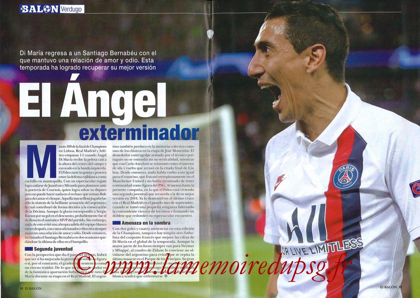 2019-11-26  Real Madrid-PSG (5ème C1, El Balon in the Game N°74) - Pages 14 et 15