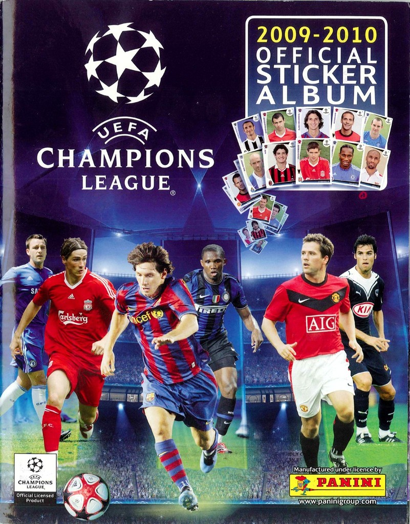 2009-10 - Panini Champions League - Couverture