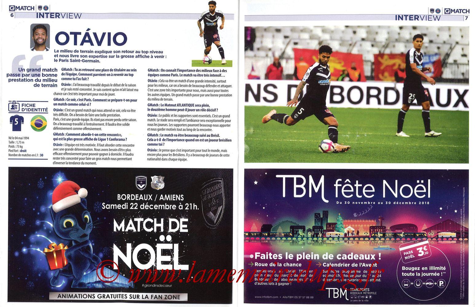 2018-12-02  Bordeaux-PSG (15ème L1, Girondins Match N°72) - Pages 06 et 07