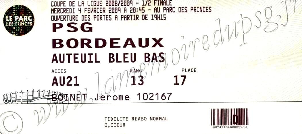 2009-02-04  PSG-Bordeaux (Demi Finale CL)