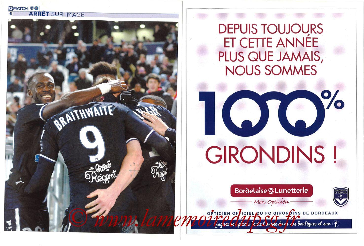 2018-04-22  Bordeaux-PSG (34ème L1, Girondins Match N°59) - Pages 06 et 07