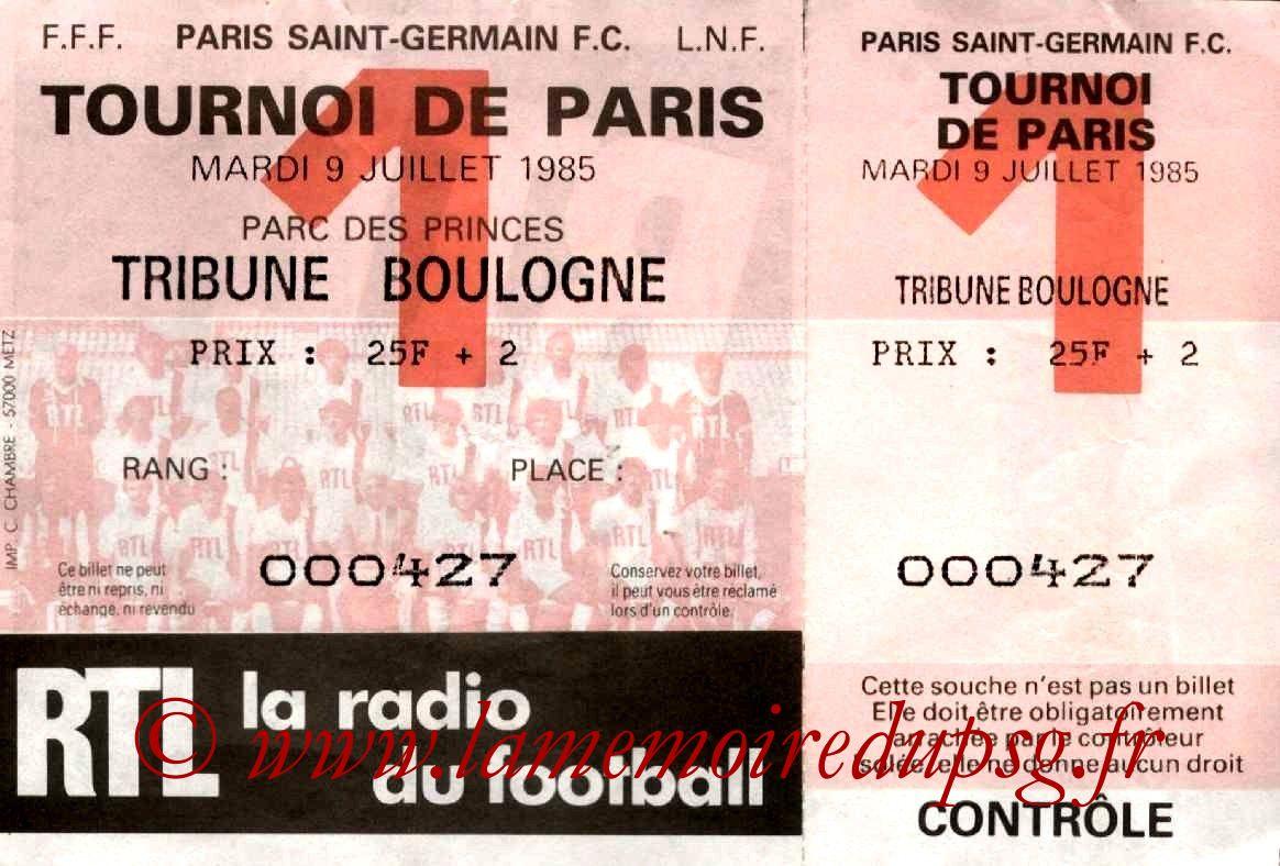 1985-07-09  PSG-Saint Etienne (Demi-Finale Tournoi de Paris)