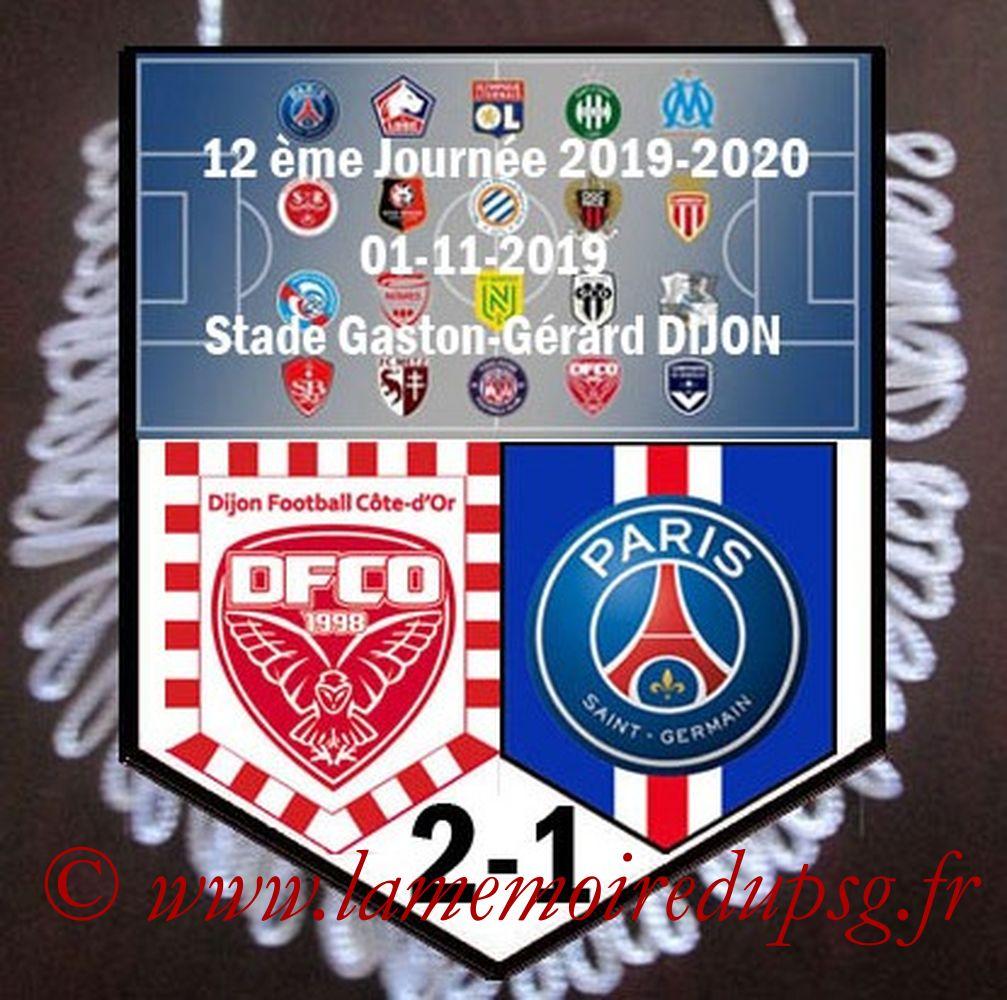 2019-11-01  Dijon-PSG (12ème L1)