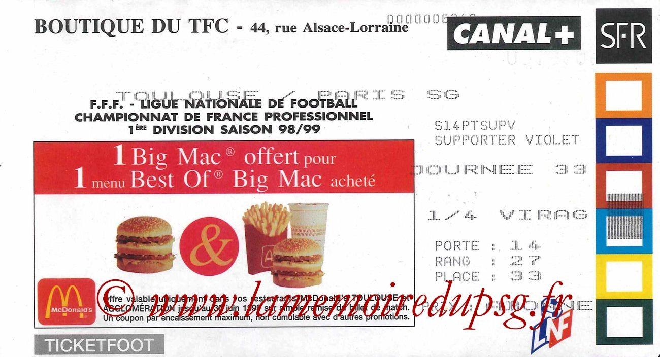 1999-05-22  Toulouse-PSG (33ème D1)