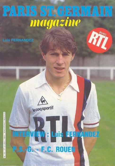 1984-10-27  PSG-Rouen (14ème D1, Paris SG Magazine N°10)