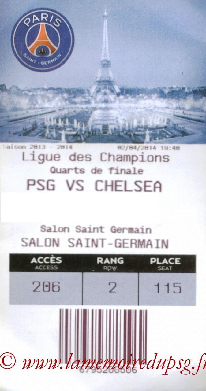 2014-04-02  PSG-Chelsea (Quart finale Aller C1, E-ticket)