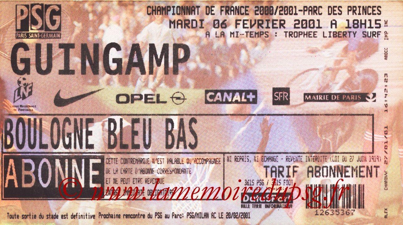 2001-02-06  PSG-Guingamp (26ème D1)