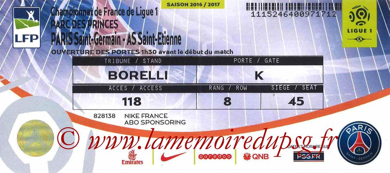 2016-09-09  PSG-Saint Etienne (4ème L1)bis