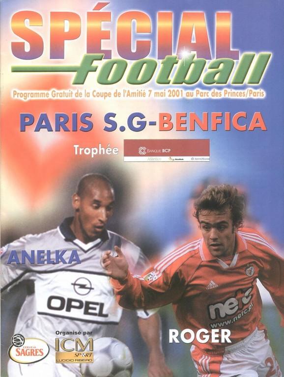 2001-05-07  PSG-Benfica (Coupe de l'amitié au Parc des Princes, Special Football)