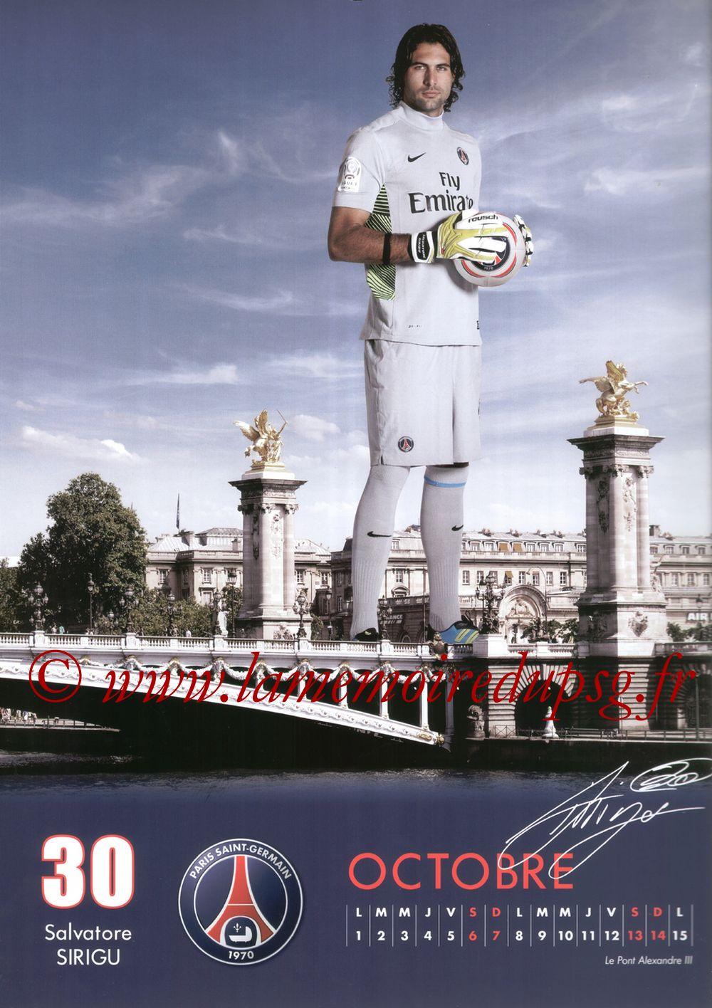 Calendrier PSG 2012 - Page 19 - Salvatore SIRIGU