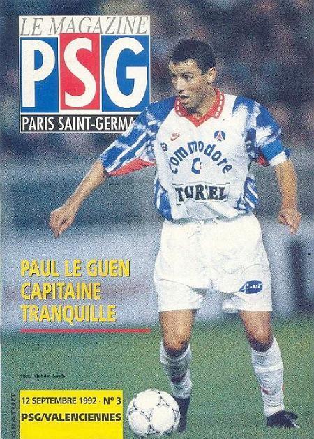 1992-09-12  PSG-Valenciennes (6ème D1,  Le Magazine PSG N°3)